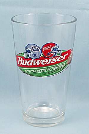 Budweiser - Official Beer Of Football - Beer Glass