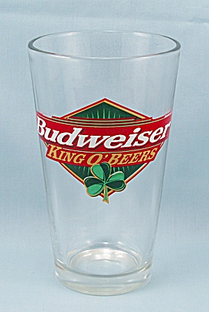 Budweiser Beer Glass � Shamrock � Beer Glass	 (Image1)