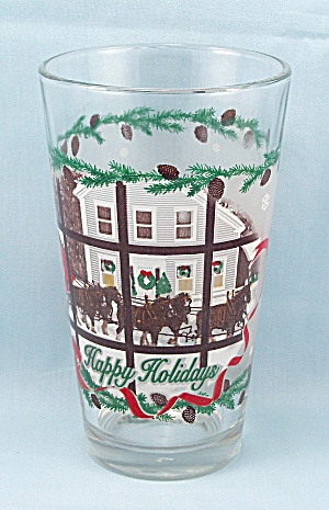 Budweiser Happy Holidays - Beer Glass