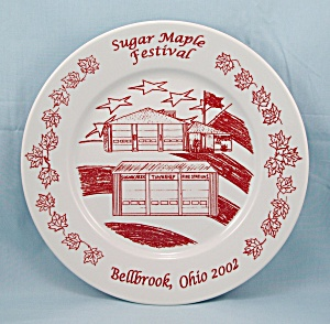 Sugar Maple Festival- Bellbrook, Ohio – Commemorative Plate –2002 (Image1)