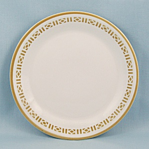 Syralite, Honey Comb, B & B Plate - Syracuse China