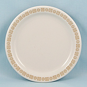 Shenango China, Bread Plate, Gold Rim Floral Pattern  (Image1)