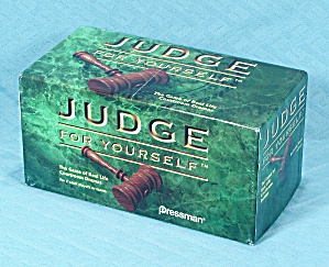 Judge For Yourself Game, Pressman, 1996