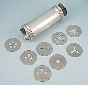 Aluminum Cookie Press, 8 Discs