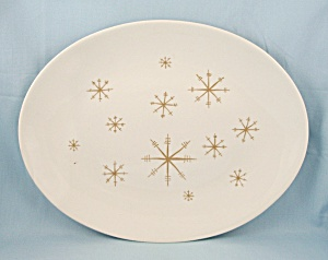 Royal China Co. – Star Glow- Gold –Oval Platter	 (Image1)