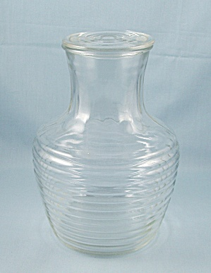 Hocking Ribbed Water Bottle With Top, Crystal (Image1)