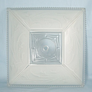 Square, Art Deco- Glass Ceiling Light, Center Mount	 (Image1)