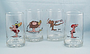 4-BC  - Ice Age Collector Series Tumblers, 1981 Set, Arby�s Promo (Image1)