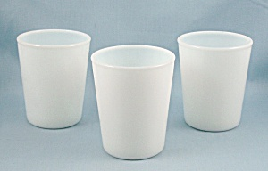 Fry Glass - Three, White Opalescent Glass