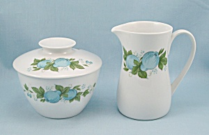 Noritake Blue Orchard – Covered Sugar & Creamer (Image1)