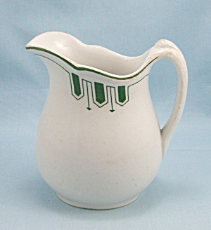 O.p. Co. - Small Pitcher - Green Arrows Design