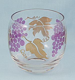 Roly Poly Tumbler, Purple Grapes & Gold
