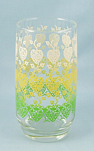 Green, Yellow, White Hearts - Flat Tumbler