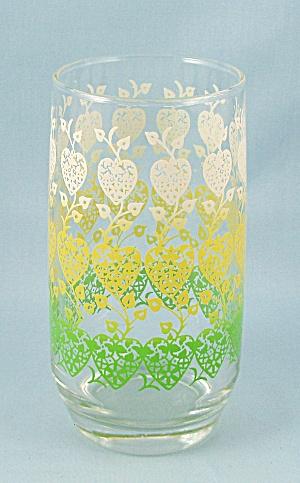 Green, Yellow, White Hearts – Flat Tumbler (Image1)