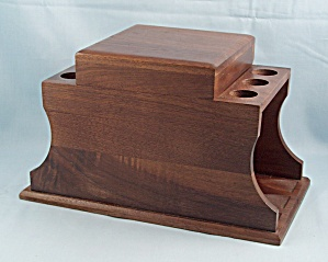 Decatur Walnut Pipe Stand / Pipe Rack / Humidor