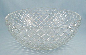 Waterford/waffle - Fruit Bowl - Depression Glass