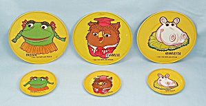Tin Litho - 1974 New Zoo Review - Tea Set, 6 Pcs.