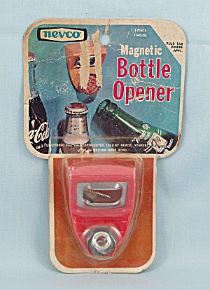1969 Nevco - Red Magnetic Bottle Opener