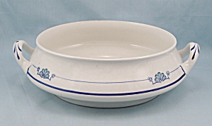 Homer Laughlin, Empress, Round Vegetable Bowl, No Lid, Blue