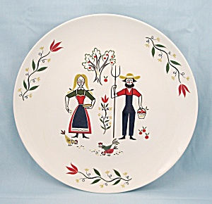 Homer Laughlin, American Provincial – Plate, 9-Inch, Rhythm Style          (Image1)