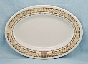 1969 Shenango Platter - Brown Rim Design