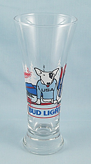 Bud Light – Spuds Mackenzie, Winter Sports – Beer Glass	 (Image1)