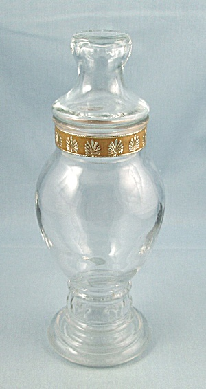 Apothecary Jar, 8-1/8 Inches – Flat Lid, Neck Band (Image1)