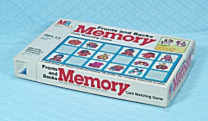Memory Game, Fronts And Backs, Milton Bradley, 1980