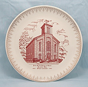 1972 First United Church Of Christ � Franklin, Ohio � Collector Plate (Image1)