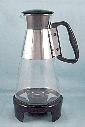 Silex/ Pyrex Carafe, 6 Cup, Stainless Band, Candle Warmer