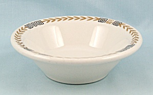 Shenango - Esquire/ Greek Key, Gold Laurel - Small Rimmed Bowl