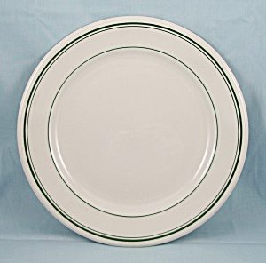 Homer Laughlin � Green Lines � Restaurant Ware Plate (Image1)