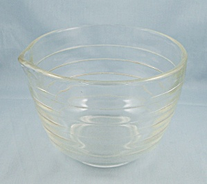 Pyrex/westinghouse - Clear Banded Mixing/batter Bowl