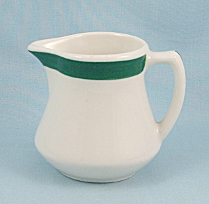 Walker China - 1932 Cream Pitcher - Green Band