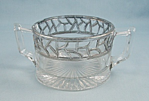 Silver Overlay Sugar Bowl/ Jelly/ Jam