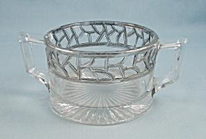 Silver Overlay Sugar Bowl/ Jelly/ Jam (Image1)