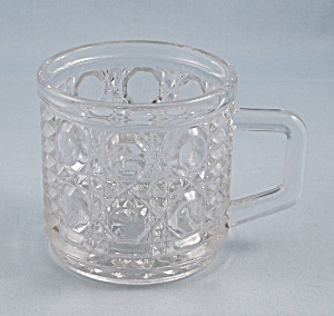 Windsor Clear, Federal Glass, Punch Cup, Button And Cane