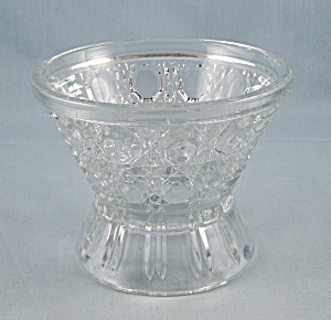 Windsor Clear, Federal Glass, Sundae Glass, Button And Cane