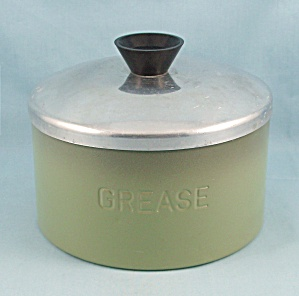 Avocado Green - Grease Canister & Lid