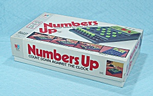 Numbers Up Game, Milton Bradley, 1975