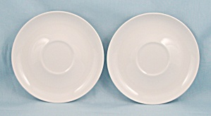 2 -Franciscan White Saucers	 (Image1)