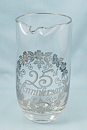 Silver Overlay - 25th Anniversary Pitcher