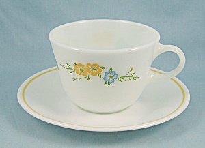 Flirtation- Cup & Saucer by Corning	 (Image1)
