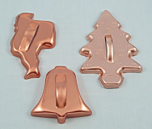 3- Coppertone Aluminum Cookie Cutters, Christmas (Image1)