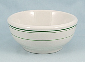 Wellsville China � Chili Bowl � Green Lines	, #A (Image1)