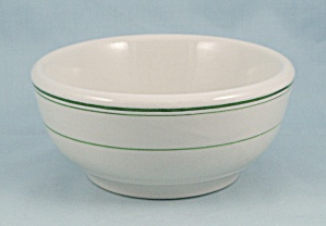 Wellsville China - Chili Bowl - Green Lines , #b