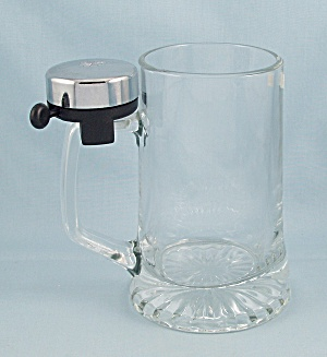 Italian Beer Mug/ Stein With Refill Bell