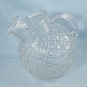 Anchor Hocking, Waterford Slant Ball Pitcher, 42 Oz.