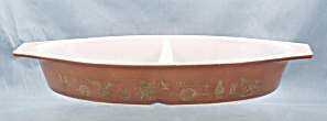 Pyrex - Divided Casserole - Early American