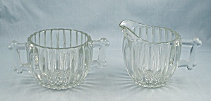 National – Crystal, Cream & Sugar - Jeannette Glass (Image1)